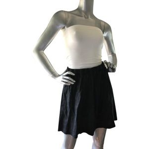 Theory strapless dress in black and white